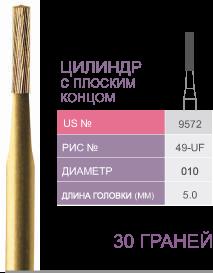 Цилиндр с плоским концом. 30 граней